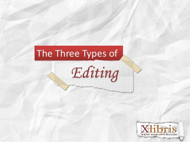 The Three Types of  Editing