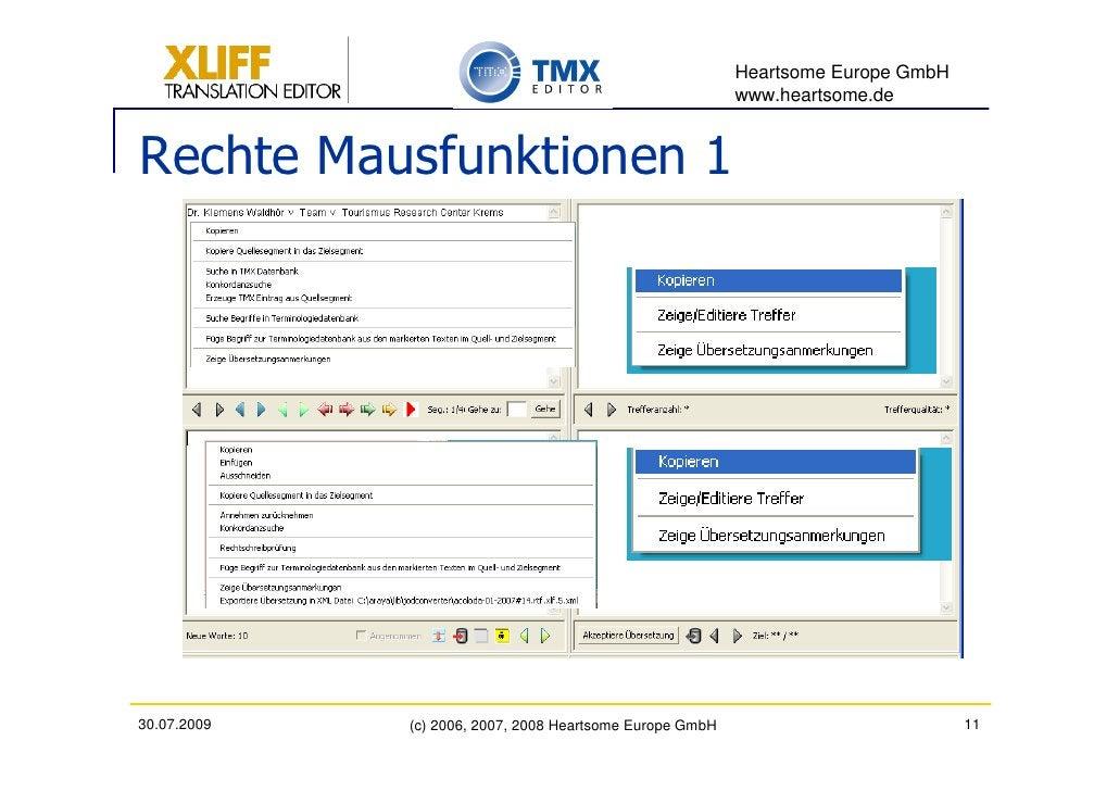 Heartsome Europe GmbH                                                           www.heartsome.de   Rechte Mausfunktionen 1...