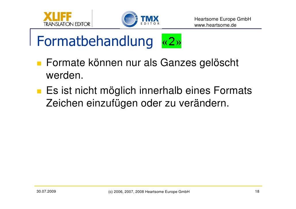 Heartsome Europe GmbH                                                               www.heartsome.de   Formatbehandlung   ...