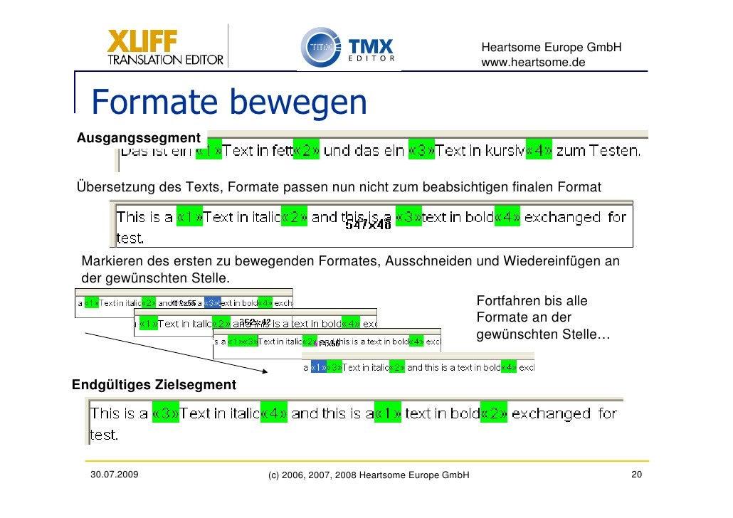 Heartsome Europe GmbH                                                                           www.heartsome.de     Forma...