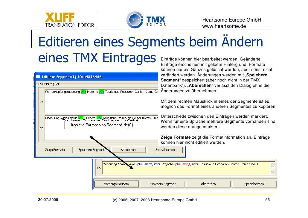 Heartsome Europe GmbH                                                           www.heartsome.de   Editieren eines Segment...