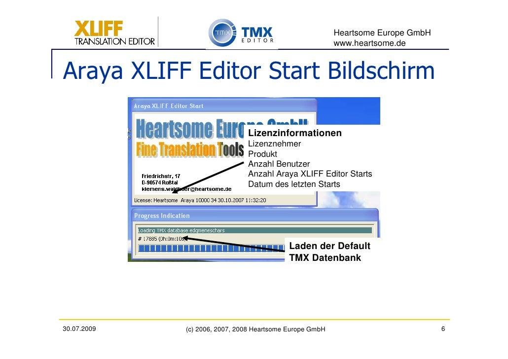 Heartsome Europe GmbH                                                           www.heartsome.de   Araya XLIFF Editor Star...