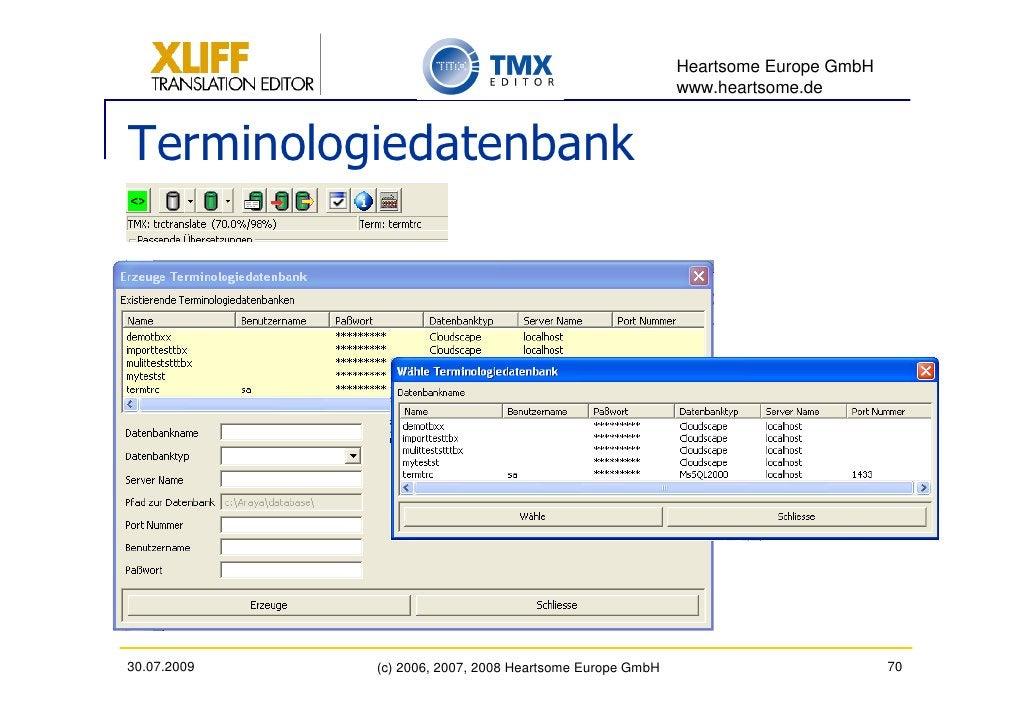 Heartsome Europe GmbH                                                           www.heartsome.de   Terminologiedatenbank  ...