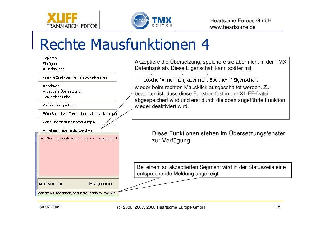 Heartsome Europe GmbH                                                           www.heartsome.de   Rechte Mausfunktionen 4...