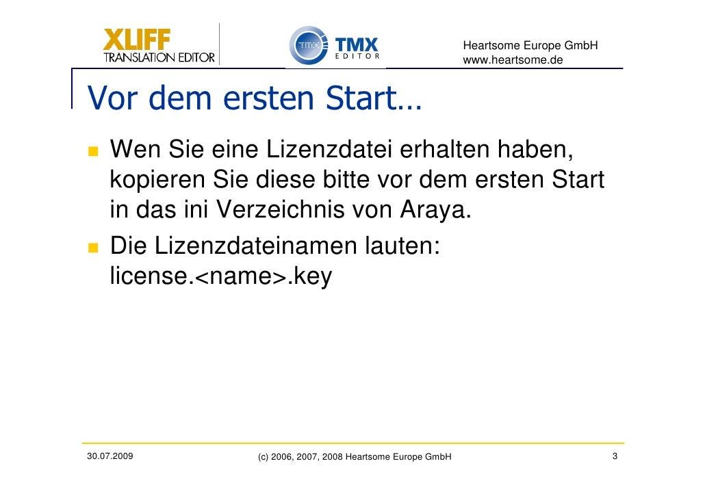 Heartsome Europe GmbH                                                               www.heartsome.de   Vor dem ersten Star...