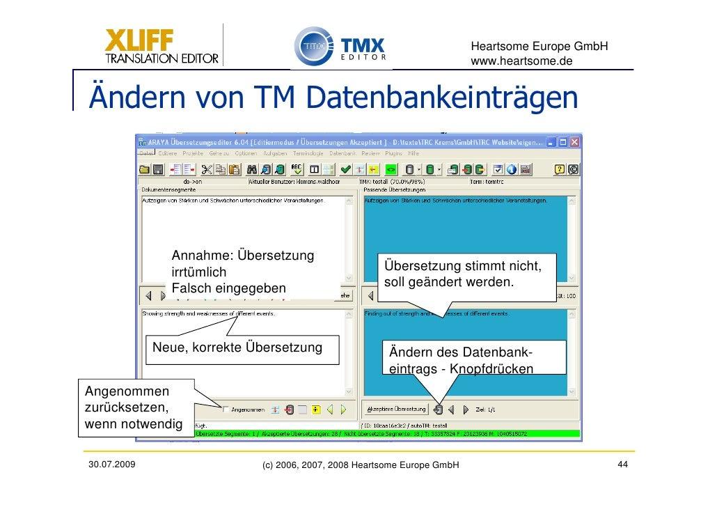 Heartsome Europe GmbH                                                                           www.heartsome.de   Ändern ...