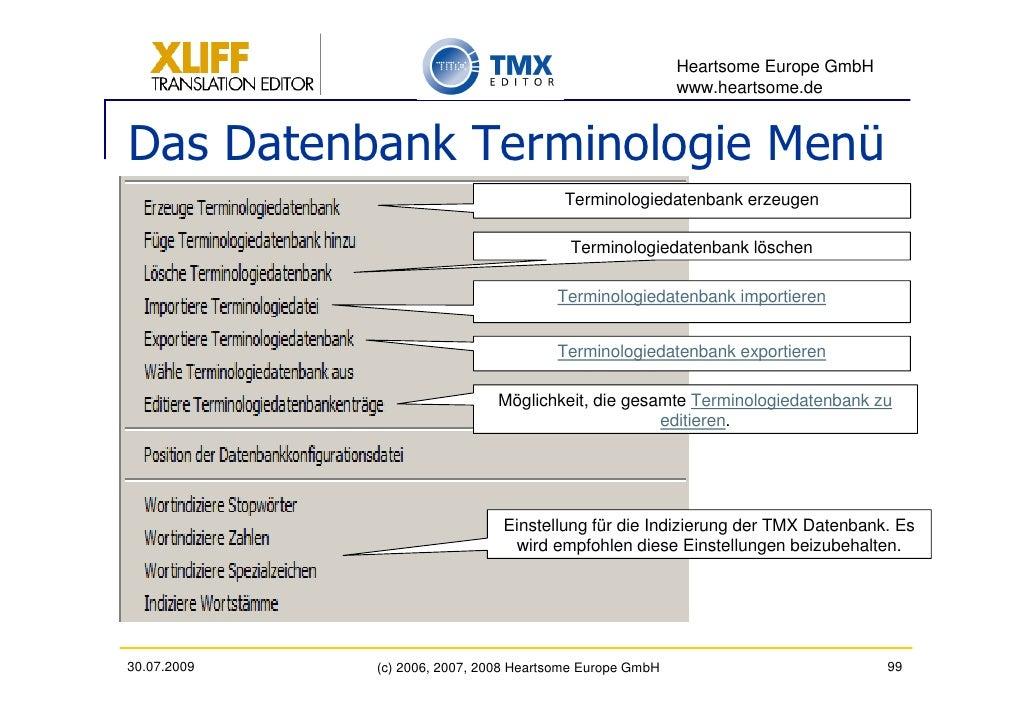 Heartsome Europe GmbH                                                           www.heartsome.de   Das Datenbank Terminolo...