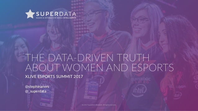 © 2017 SuperData Research. All rights reserved. THE DATA-DRIVEN TRUTH ABOUT WOMEN AND ESPORTS XLIVE ESPORTS SUMMIT 2017 @s...