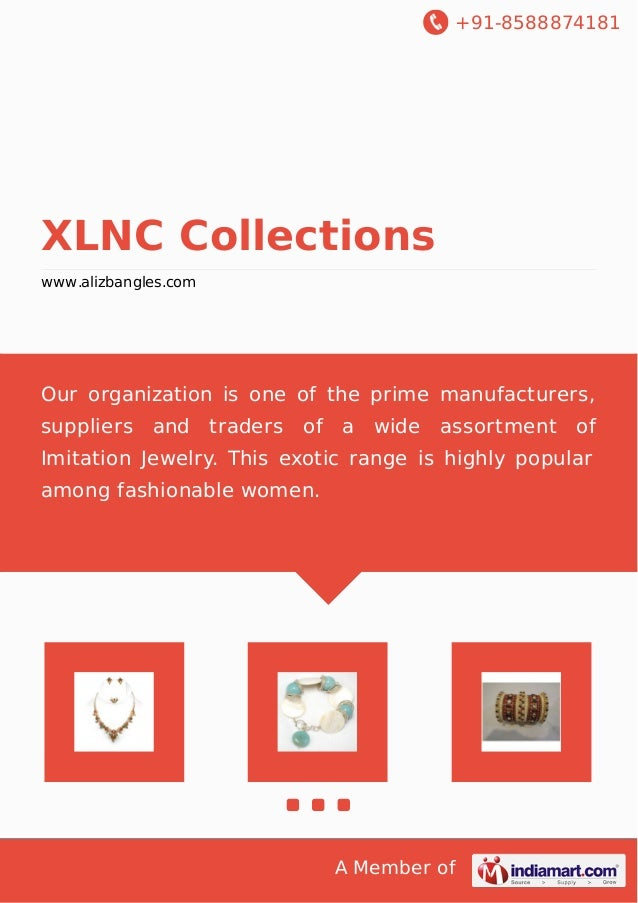 +91-8588874181 A Member of XLNC Collections www.alizbangles.com Our organization is one of the prime manufacturers, suppli...