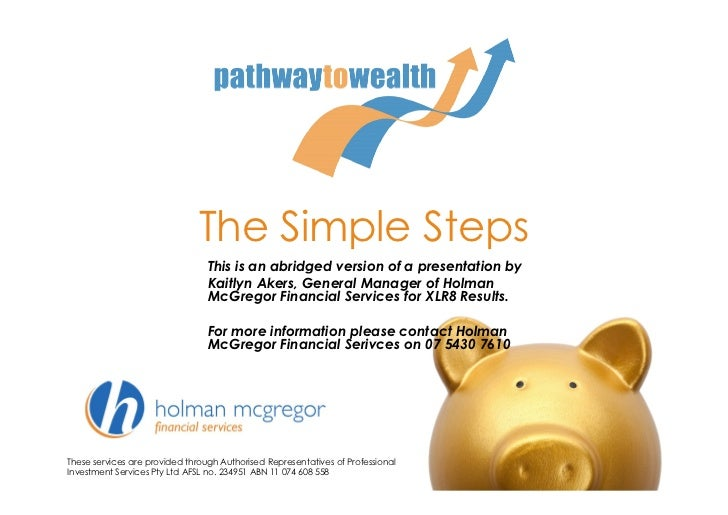 The Simple Steps                                 This is an abridged version of a presentation by                         ...