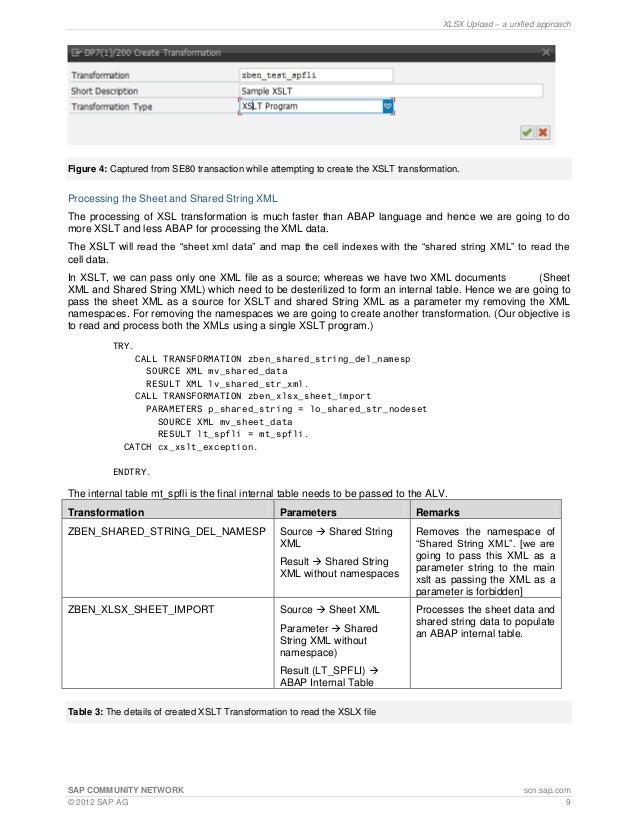 xlsx upload in sap gui and wda