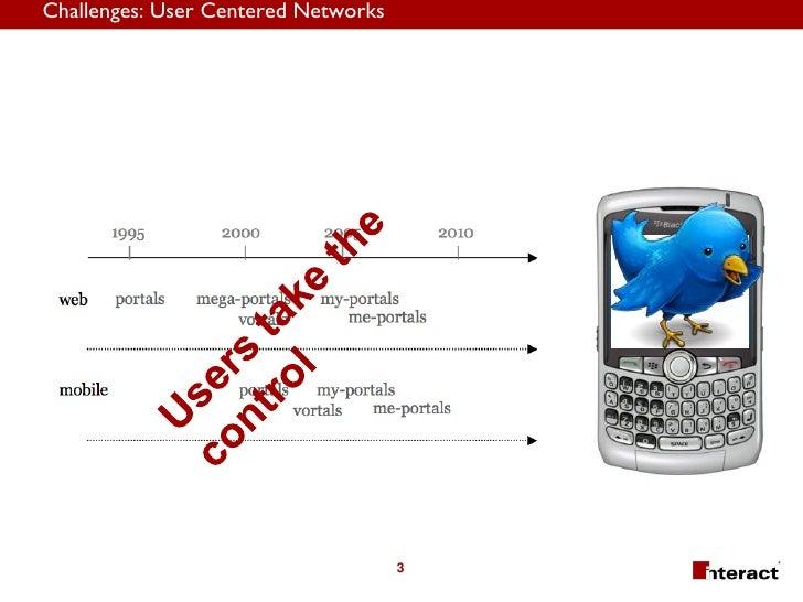 Challenges: User Centered Networks                                          3