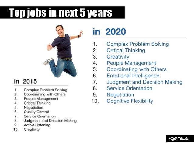 Top jobs in next 5 years