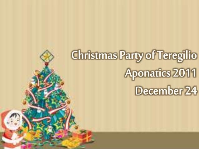 •Mga Isinasabit sa Christmas Tree •Mga Dessert na hinahain •Mga Laman ng regalo galling sa Ninong/ Ninang