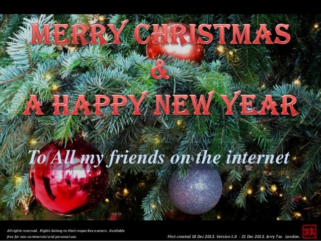 To All my friends on the internet  All rights reserved. Rights belong to their respective owners. Available free for non-c...