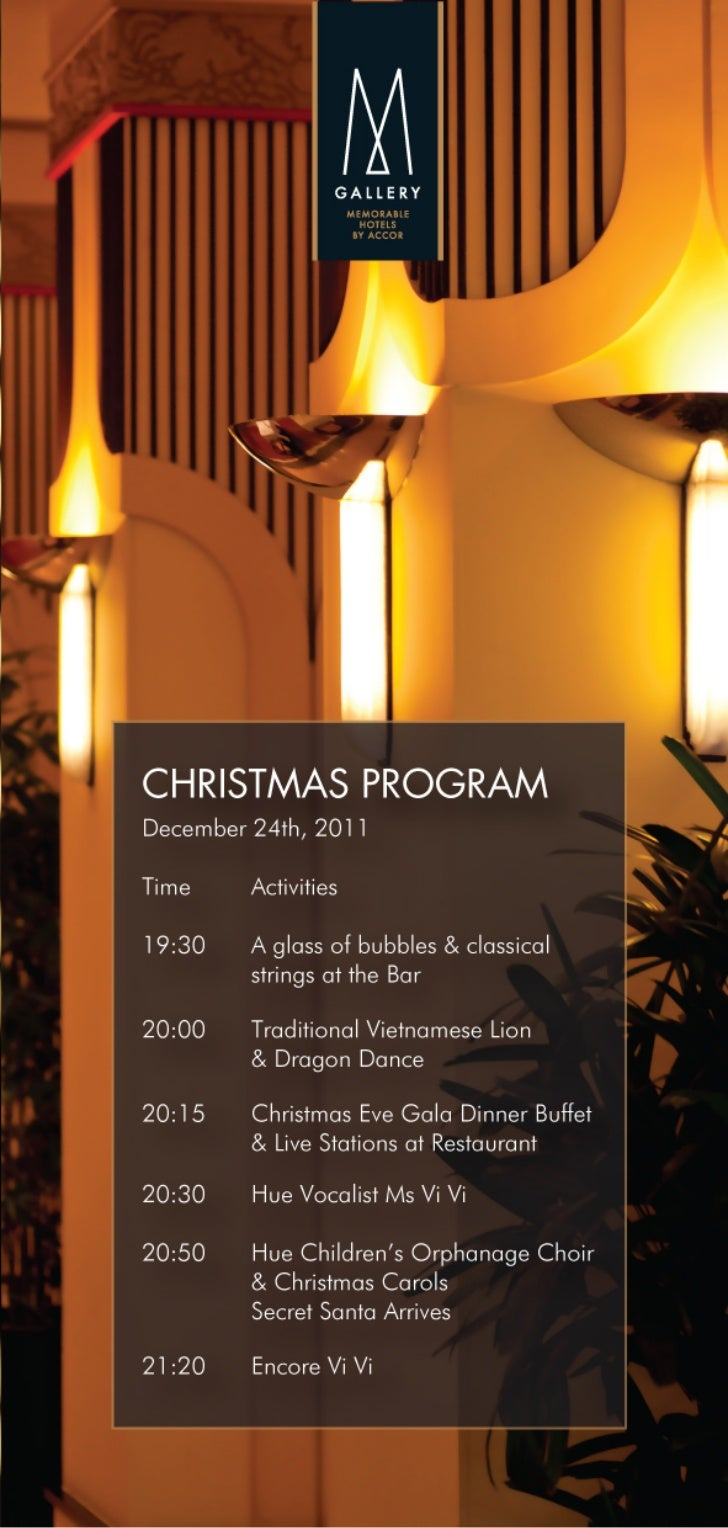 La Residence Hotel & Spa - Christmas Dinner Program
