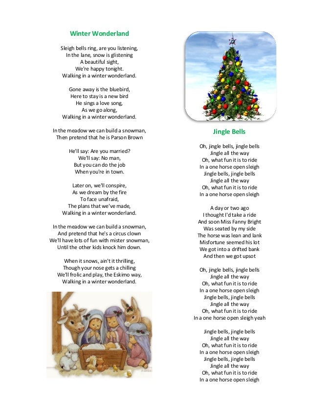My favorite christmas songs (lyrics)