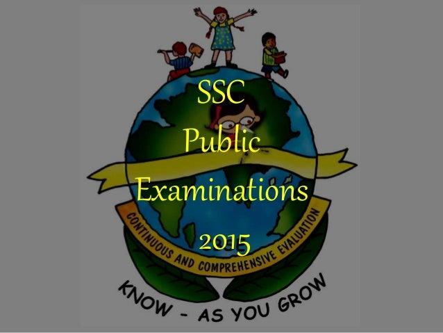 SSC Public Examinations 2015
