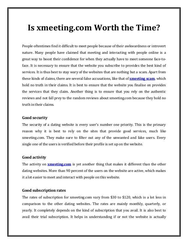 Xmeeting dating site