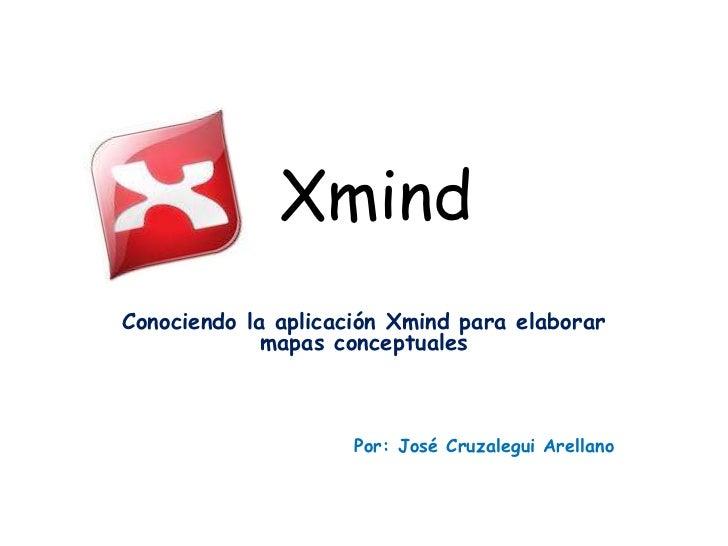XmindConociendo la aplicación Xmind para elaborar             mapas conceptuales                     Por: José Cruzalegui ...