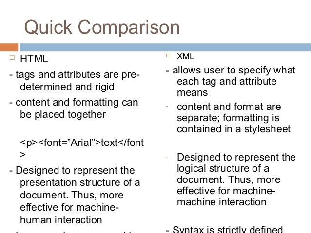 the difference between html and xml What's the difference between html and xhtml html and xhtml are both languages in which web pages are written html is sgml-based while xhtml is xml-based they are like two sides of the same coin.