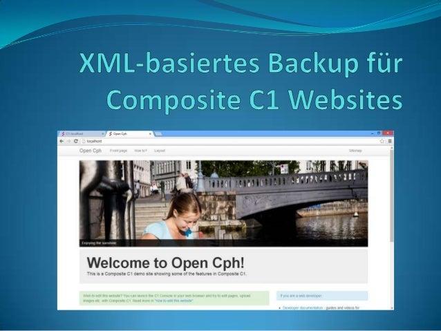 In diesem Artikel möchte ich zeigen, wie sie Ihre Composite C1 Website mit Hilfe des PackagesComposite.Tools.XMLBasedSiteB...
