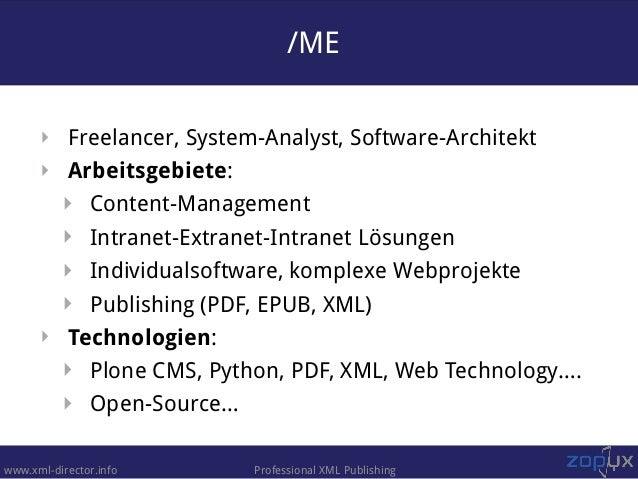 XML Director - the technical foundation of onkopedia.com Slide 2