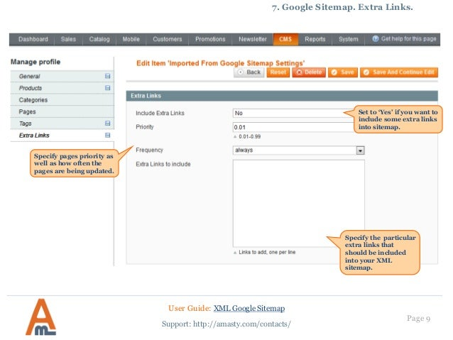 xml google sitemap magento extension by amasty user guide