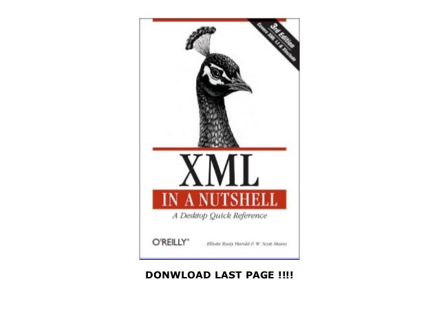 read XML in a Nutshell (In a Nutshell (O Reilly))
