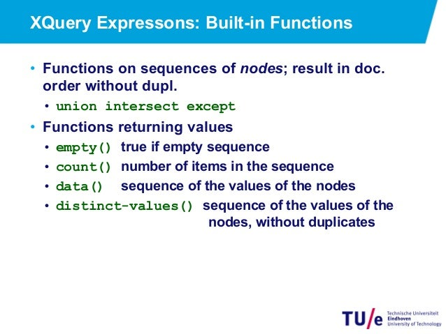 Querying XML: XPath and XQuery
