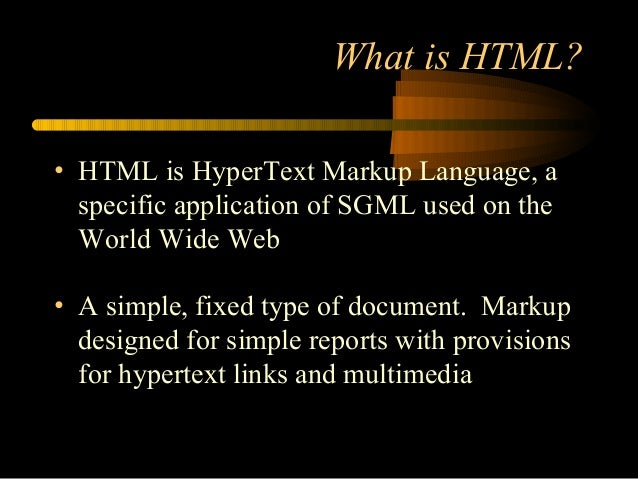 the descriptions of the markup languages xml and html in websites Hypertext markup language (html) is the standard markup language for  creating web pages and web applications  the html syntax) and a stricter  xml-based serialization (documented in 9.