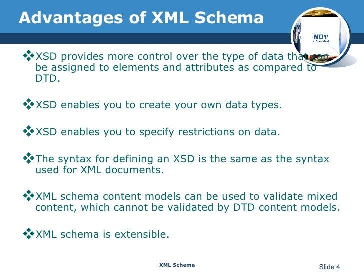 Xml schema 4 advantages of xml schema publicscrutiny Gallery