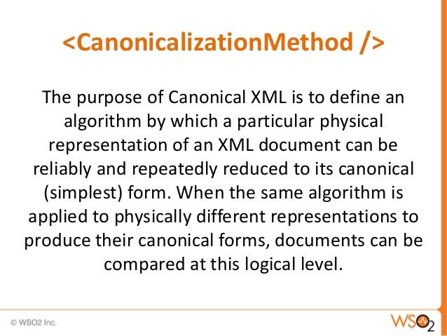 Canonical XML #