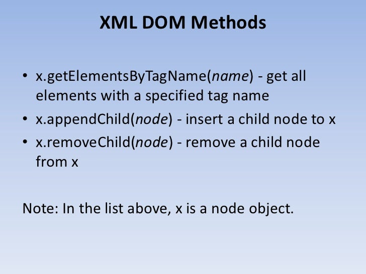 XML Document Object Model (DOM)