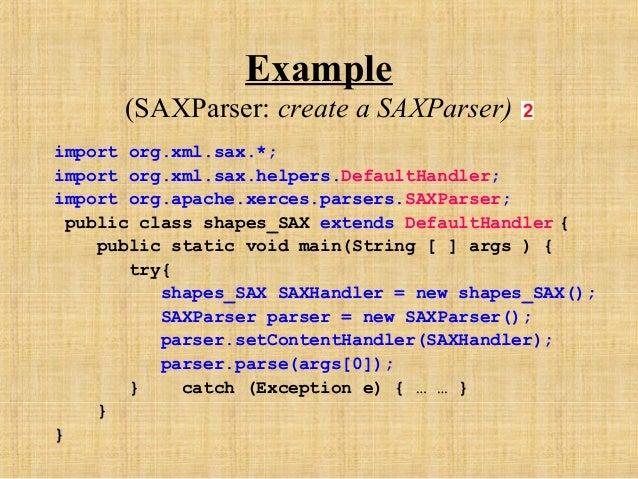 Non validating sax parser defaulthandler