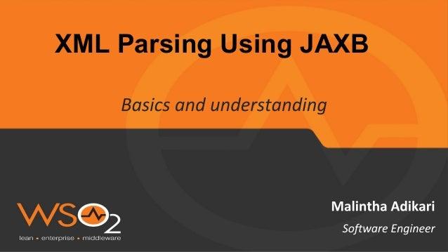 XML parsing using jaxb