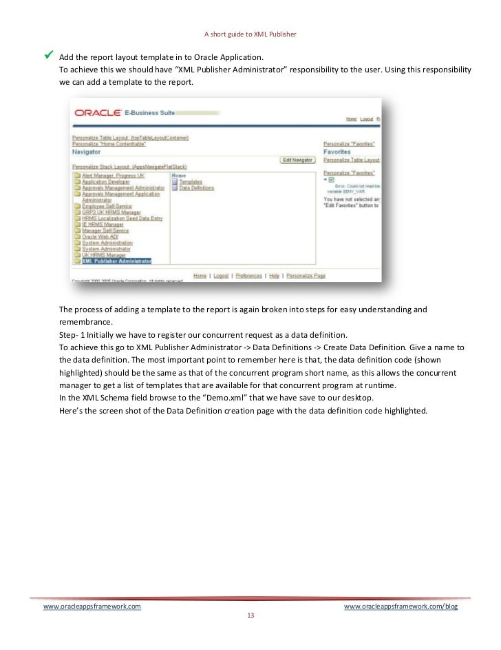 An Insider to XML Publisher