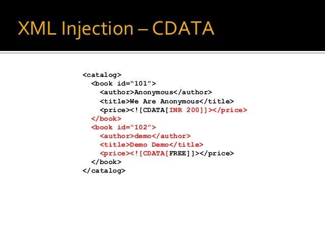 XML & XPath Injections