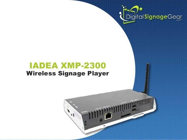 IADEA XMP-2300 Wireless Signage Player