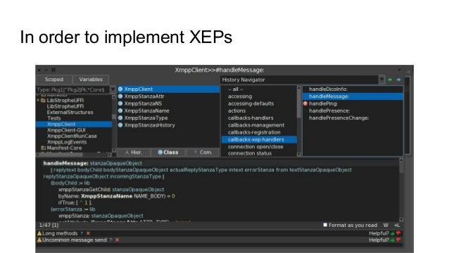 In order to implement XEPs