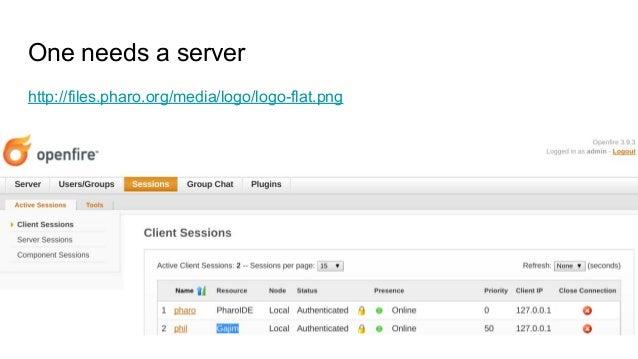 One needs a server http://files.pharo.org/media/logo/logo-flat.png