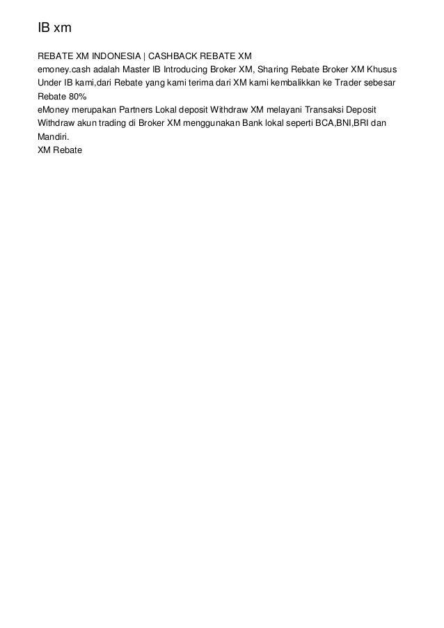 Transaksi Under Afiliasi XM TradeFaster