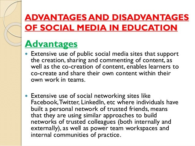 the disadvantages of social networking on society Advantages & disadvantages of social  of the society can benefit from the social media and its  the excessive use of social networking.