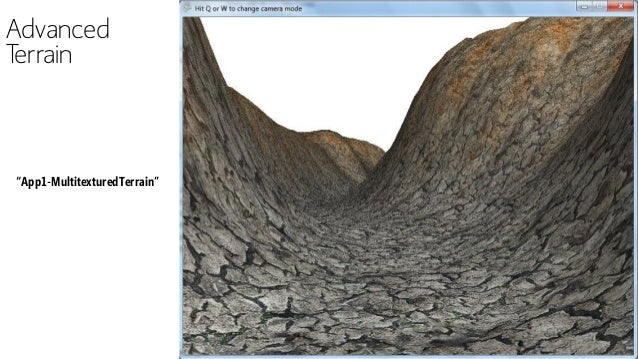 "Advanced Terrain ""App1-MultitexturedTerrain"""