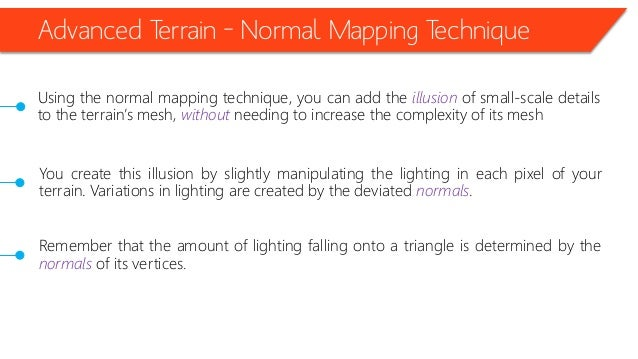 • Creating the Terrain Effects (Apress, Page 277)