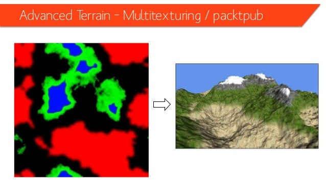 Advanced Terrain –Detailing / packtpub • Details appear when camera is close to the terrain to fake a higher resolution te...