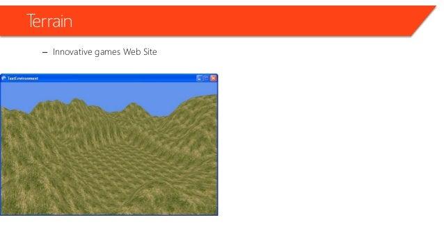 Terrain – Innovative games Web Site