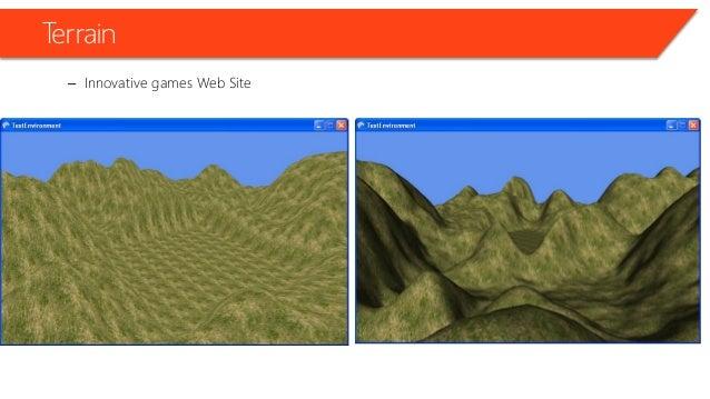 Terrain • Innovative games • Web Site Terrain with fog!