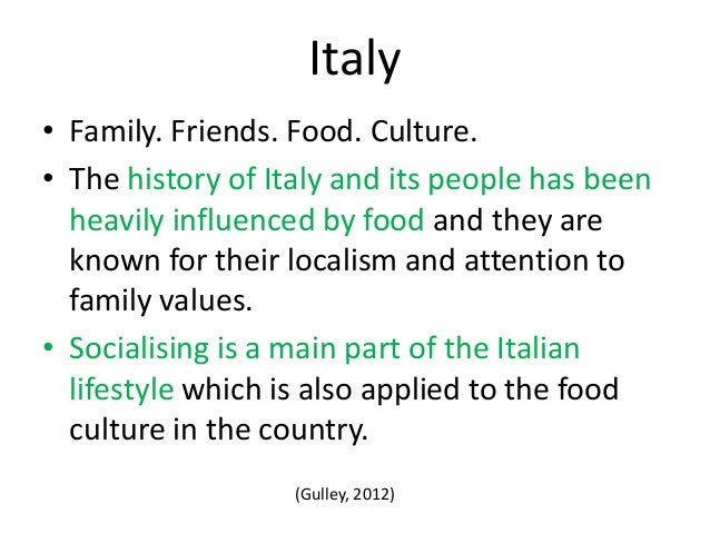 italian cultural influences The famous elements of italian culture are its art, music, style a movement called futurism influenced italian literature in the early 20th century.