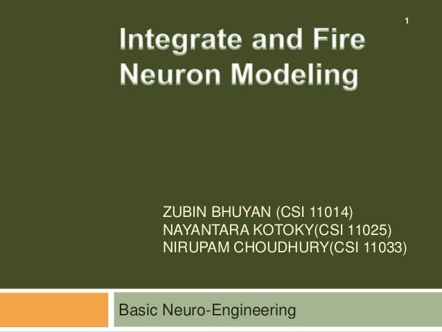 Neuroengineering Tutorial Integrate And Fire Neuron Modeling